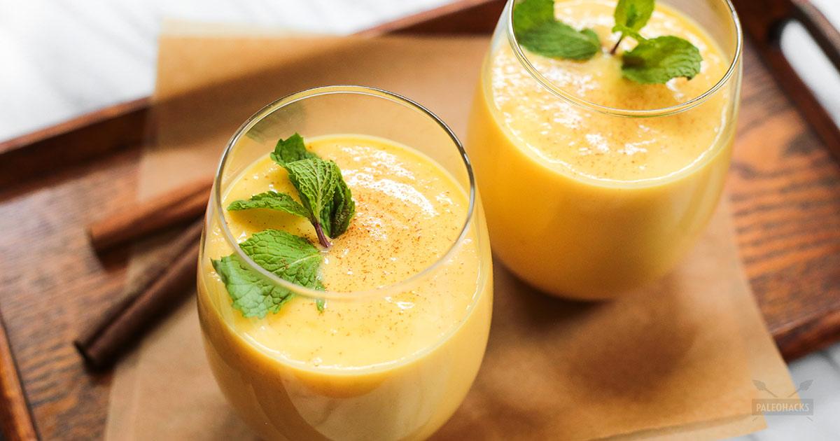 mango lassi with cinnamon paleo probiotic rich dairy free
