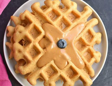 Fluffy Paleo + Keto Almond Flour Waffles