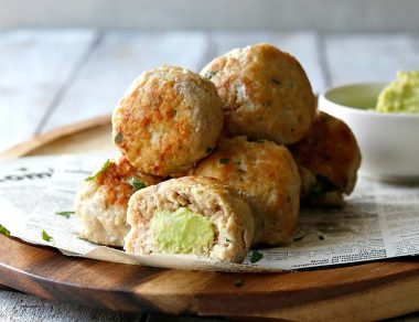Keto Avocado-Stuffed Chicken Meatballs
