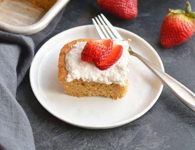 Fluffy Almond Flour Vanilla Sheet Cake