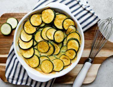 Keto Cheesy Zucchini Gratin (Low Carb, Paleo)