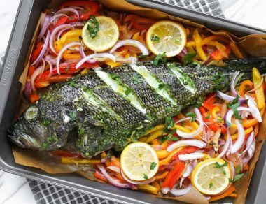 The Best Ever Baked Sea Bass Recipe