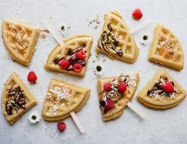 Coconut Flour Waffle Pops
