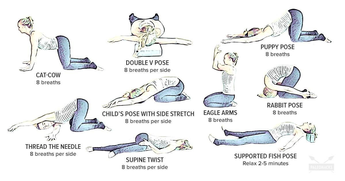 9 Easy Yoga Poses for Upper Back Pain | Gentle, Soothing
