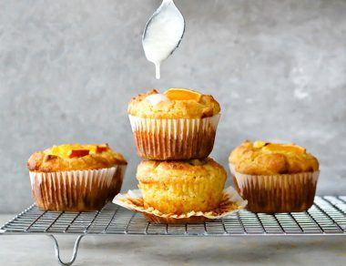 Orange Cardamom Keto Muffins with Coconut Butter Glaze