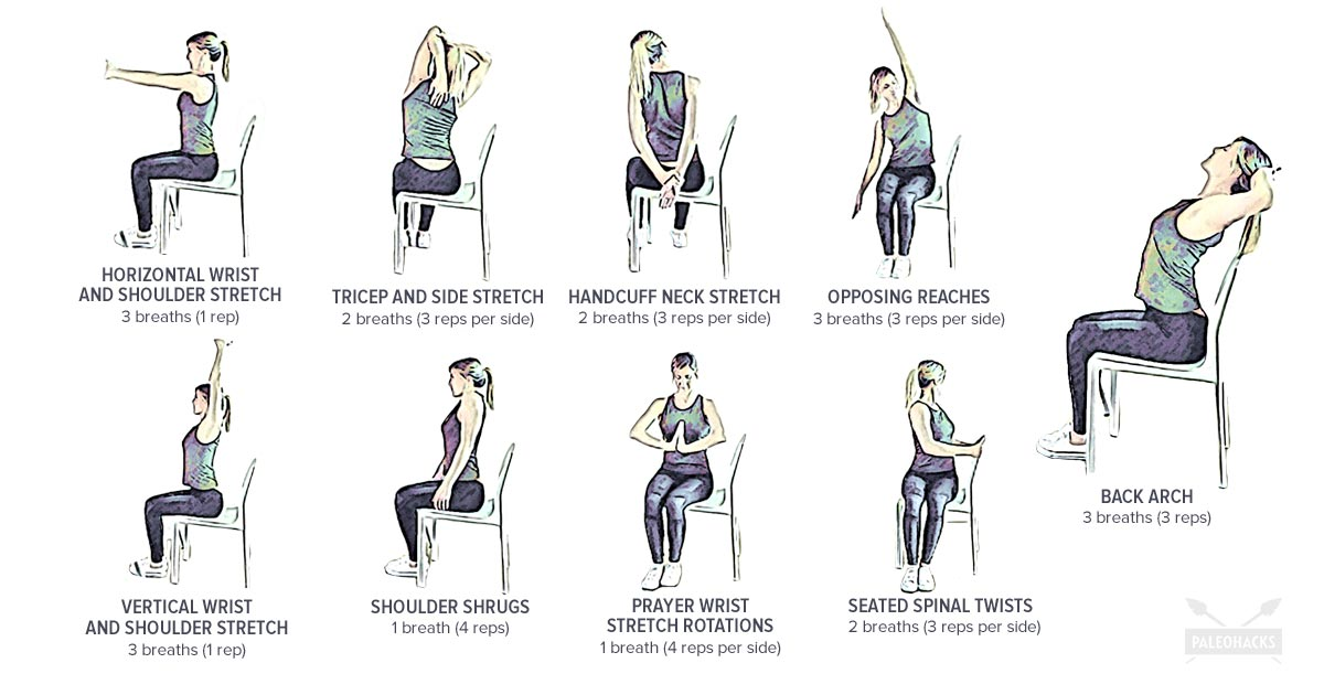 9 Seated Stretches To Release Neck Back Pain Gentle