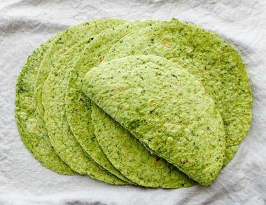 Homemade Spinach Tortillas (Corn-Free, Grain-Free)