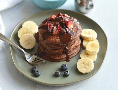 Nutty Choco-Nana Paleo Pancakes