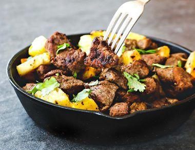 Sesame Pineapple Steak Bites Recipe