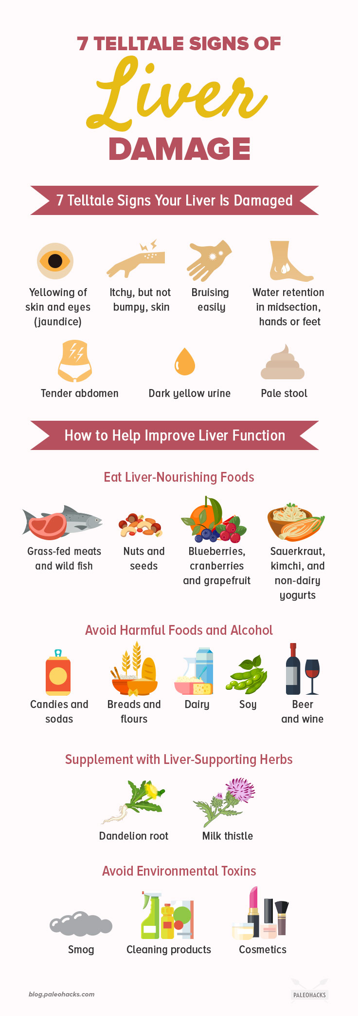 Signs of liver problems from alcohol advise