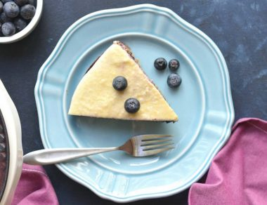 Antioxidant-Rich Blueberry Cheesecake