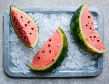 Watermelon Sorbet Slices