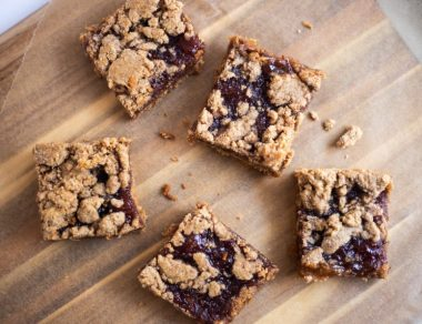 Almond Butter and Jelly Dessert Bars