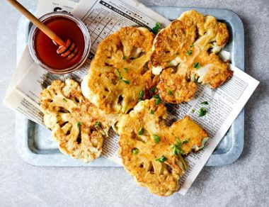 Chicken-Fried Cauliflower Steaks