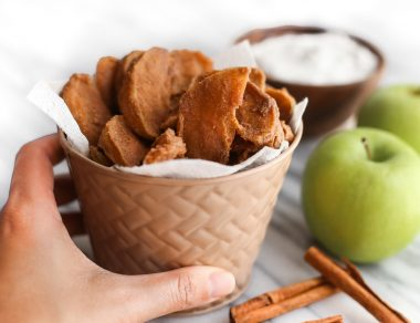 Cinnamon Apple Fries with Coconut Oil