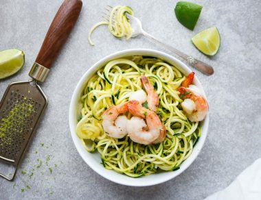 Zucchini Noodles with Coconut Lime Shrimp