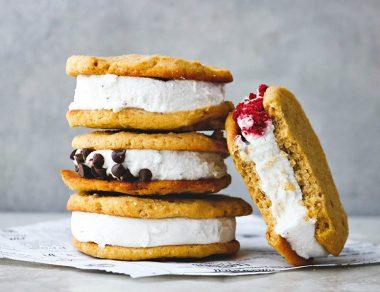Coconut Flour Cookie Ice Cream Sandwiches