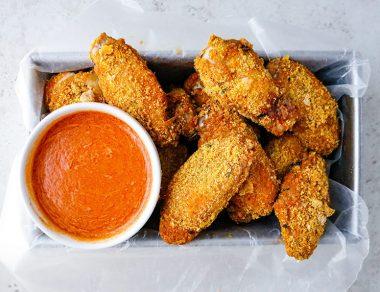 Crispy Baked Keto Chicken Wings