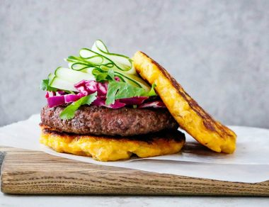 Golden Plantain Burger Buns