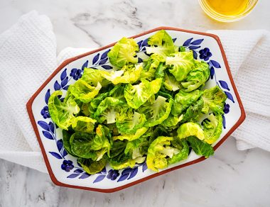 Baked Brussels Sprouts Chips