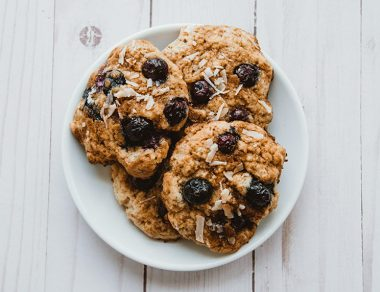Keto Cinnamon Blueberry Fritters