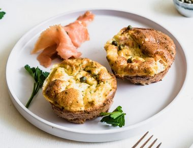 Lox and Caper Egg Muffins