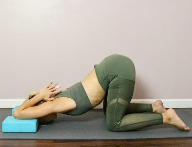 9 Relaxing Yoga Poses to Release Shoulder + Back Pain