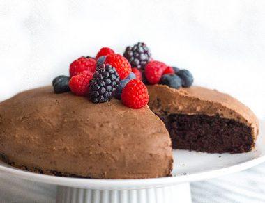 """Let's Elope Cake"" aka Chocolate Sweet Potato Cake"