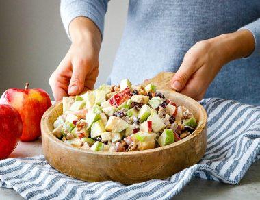 Winter Cinnamon Apple Fruit Salad