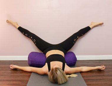 6 Restorative Yoga Poses To Lower Cortisol & Slow Aging