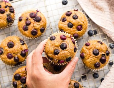 Almond Butter Blueberry Blender Muffins