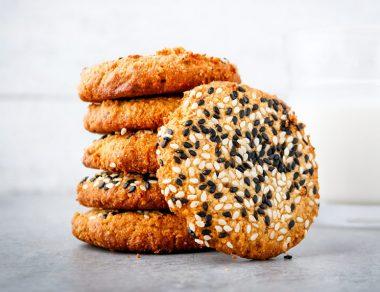 Almond Flour Honey Tahini Cookies