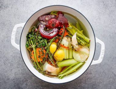 How To Make Amazing Vegetable Broth with Kitchen Scraps