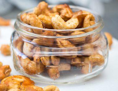 Maple Cinnamon Roasted Cashews