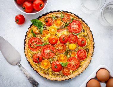 Simple Veggie Tart with Almond Flour Crust
