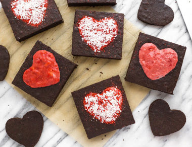 Be-Mine Strawberry Valentine Brownies