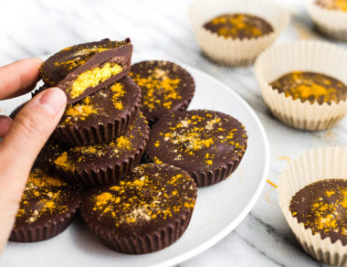 Golden Milk Chocolate Cashew Butter Cups
